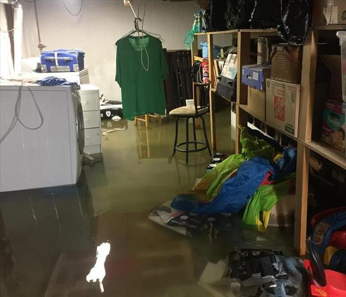 Flooded basement? Call SERVPRO of Clay County Before