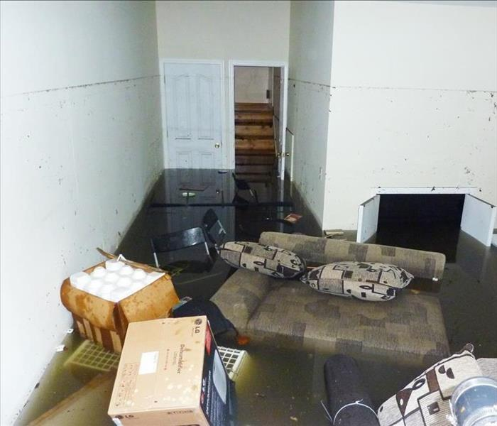 Completely flooded basement
